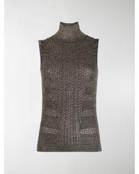 Chloé Knitted Metallic Top - Black