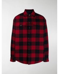 DSquared² Red And Black Check Military Shirt