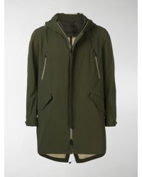 Herno Hooded Zipped Coat - Green