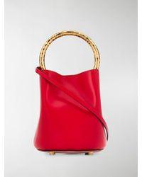 Marni Pannier Top Handle Bag - Red