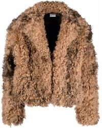 Vetements Cropped Shearling Jacket - Brown
