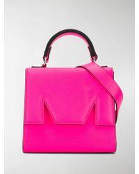 MSGM Neon Mini Tote Bag - Pink