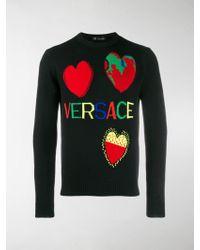 Versace - Pullover mit Herzdetail - Lyst