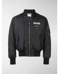 Moschino - Puffer Bomber Jacket - Lyst