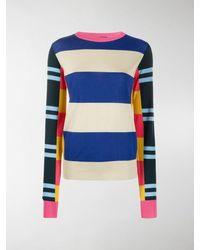 Colville Striped Wool Jumper - Blue