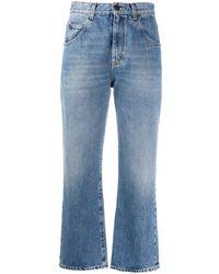 Saint Laurent Cropped Mid-rise Jeans - Blue
