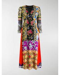 Etro Vestito midi con design patchwork - Multicolore