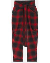 Stella McCartney Bessie Silk Check Trousers - Red