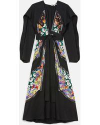 Stella McCartney Vestito midi con applicazioni - Nero