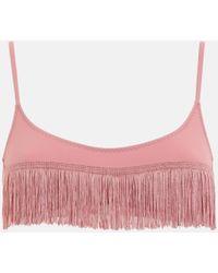 Stella McCartney Fringes Brassiere Bikini Top - Pink