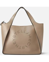 Stella McCartney Tote Bag Stella Logo - Natur