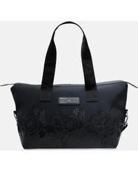 67479c7d00a5 Adidas By Stella Mccartney Shipshape Mesh Gym Bag in Black - Lyst