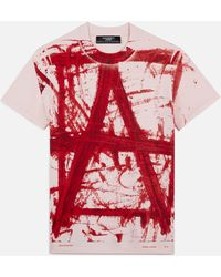 "Stella McCartney ラッシード・ジョンソン ""a"" Tシャツ - ピンク"