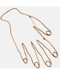 Stella McCartney Hand Motif Brooch - Yellow