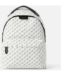 Stella McCartney White Monogram Falabella Backpack