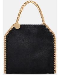 Stella McCartney Black Falabella Shaggy Deer Tiny Tote