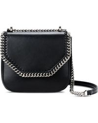 Stella McCartney - Black Falabella Box Mini Shoulder Bag - Lyst