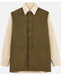 Stella McCartney Karl Patchwork Shirt - ナチュラル