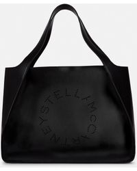 Stella McCartney Tote Bag Stella Logo - Schwarz