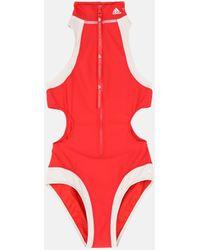 Stella McCartney Costume Intero Accollato TruePurpose Rosso