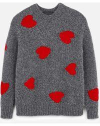 Stella McCartney Heart Intarsia Knit Jumper - マルチカラー