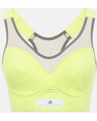 adidas By Stella McCartney Weicher BH Stronger in Gelb - Mehrfarbig