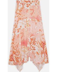Stella McCartney Jupe Ariah en soie - Multicolore