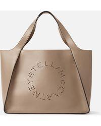 Stella McCartney Tote Bag Stella Logo - Neutro