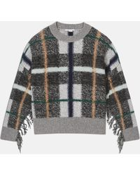 Stella McCartney - Grey Check Jumper - Lyst