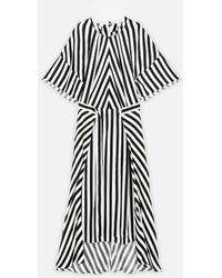 Stella McCartney Robe mi-longue rayée - Noir