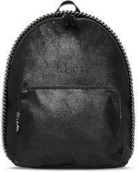 Stella McCartney - Black Falabella Shaggy Deer Mini Backpack - Lyst