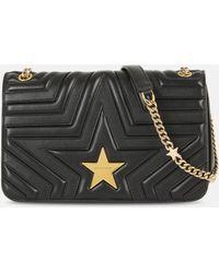Stella McCartney Stella Star Flap-over Shoulder Bag - Black