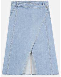 Stella McCartney Peyton Denim Skirt - Blue