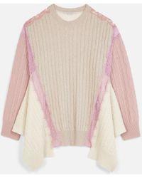 Stella McCartney Oversized Wool Jumper - Natural