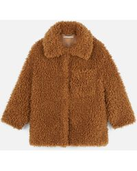 Stella McCartney Fur Free Fur Josephine Coat - Brown