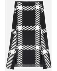 Stella McCartney Knit Check Skirt - Black