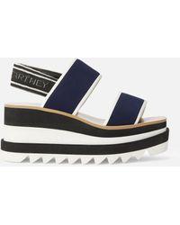 Stella McCartney 80mm Sneakelise Neoprene Wedged Sandals - Blue