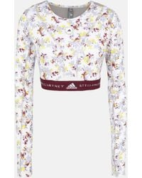 adidas By Stella McCartney Future Playground Long-sleeved Crop Top - White