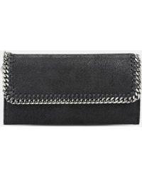 Stella McCartney Falabella Continental Wallet - Black