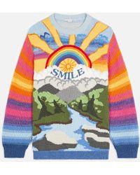 Stella McCartney Pull façon intarsia Kind - Multicolore
