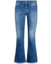 Stella McCartney - Fringed Stars Skinny Kick Jeans - Lyst