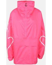 Stella McCartney Rosafarbene Jacke mit halbem Reißverschluss - Pink