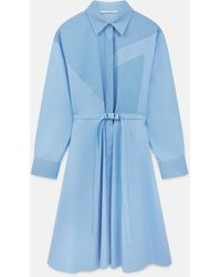 Stella McCartney ミア コットン ドレス - ブルー