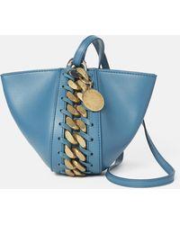 Stella McCartney フレイム クラッチ バッグ - ブルー