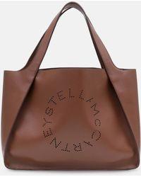 Stella McCartney Stella Logo Tote Bag - Braun