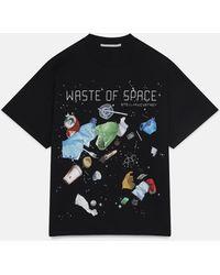 Stella McCartney 「ウェイスト オブ スペース」tシャツ - ブラック