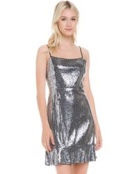 780734db River Island Silver Sequin Embellished Fringe Dress in Metallic - Lyst