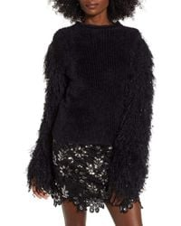 Endless Rose - Fuzzy Knit Sweater Black - Lyst