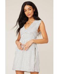 Jack BB Dakota True Ties Striped Dress - White