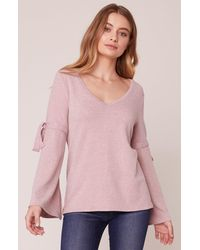 Jack BB Dakota Can't Tie Me Love Sweater With Arm Ties - Pink